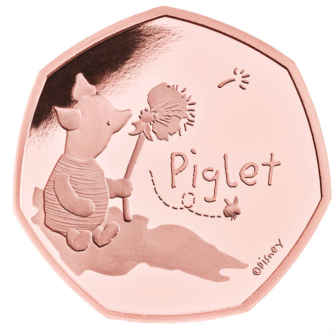 Piglet is the latest coin to be unveiled by Royal Mint