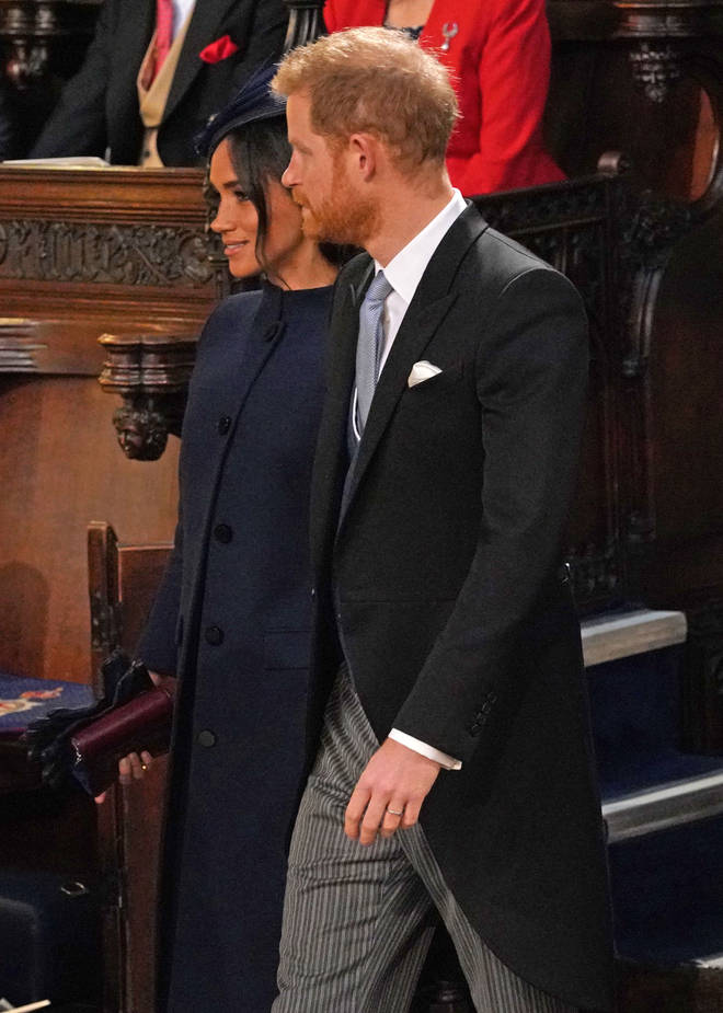 The Duke and Duchess of Sussex arrive at Princess Eugenie's wedding