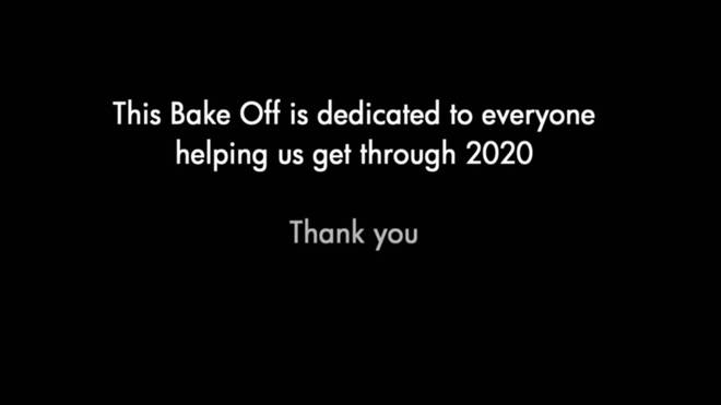 The show was dedicated to 'everyone helping us get through 2020'