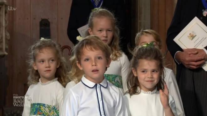 Theodora Rose at Princes Eugenie wedding
