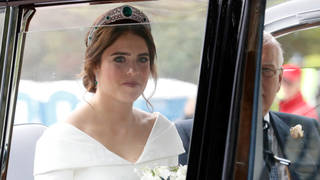 Princess Eugenie arrives at her wedding