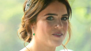 Princess Eugenie Of York wearing the pricless emerald tiara