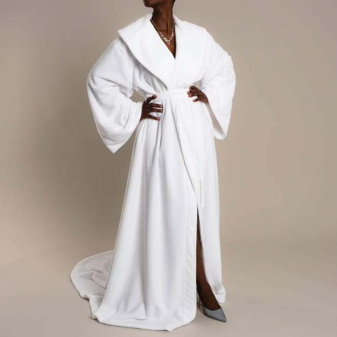 The gown is available to pre-order now