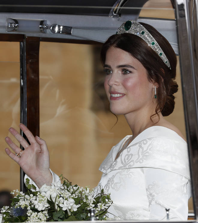 Princess Eugenie had myrtle in her bouquet - a royal tradition that dates back to Victorian times