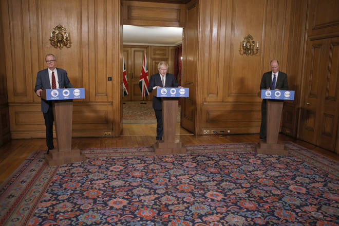 Chris Whitty and Patrick Vallance joined Boris Johnson at the Downing Street press conference yesterday