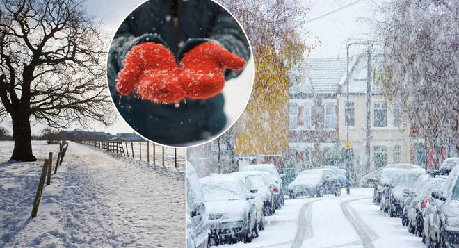 Snow is expected 'almost anywhere' in the UK in December (stock images)