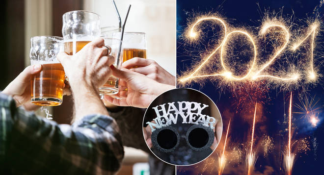 Millions of people have been told they can't visit the pub with friends on New Year's Eve (stock images)