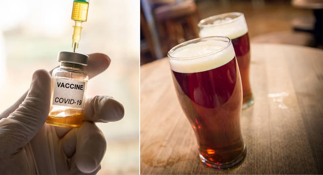 A minister has suggested that those who refuse a coronavirus vaccine could be turned away from pubs (stock images)