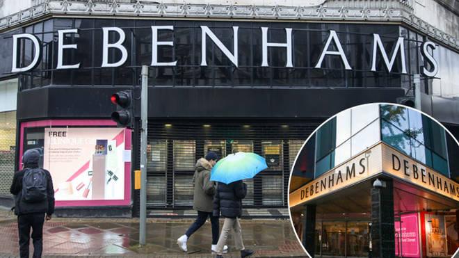Debenhams stores are set to close