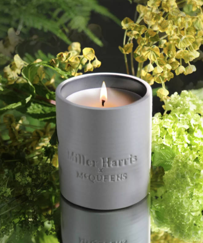 McQueens floral candle