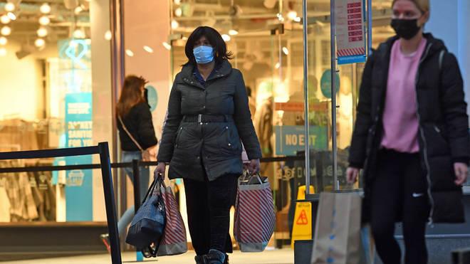 Shoppers leave Primark in Birmingham