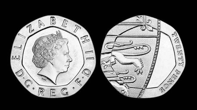 The unusual dateless 20p coins are worth 250 times their value