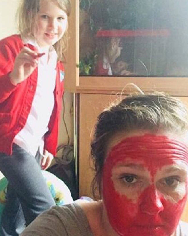 Leanne's daughter Rosie wanted to transform her in to a LOBSTER