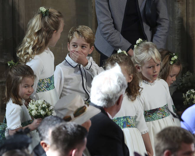 Prince George showed his cheeky side during the royal wedding