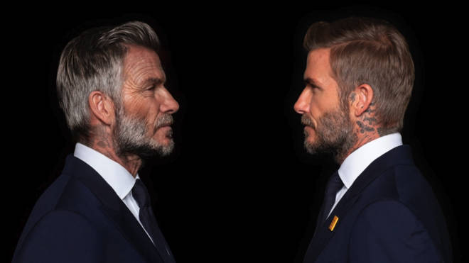 David Beckham was aged by 30 years in a new campaign
