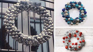 It's really trendy to have a bauble Christmas wreath in 2020, but they are pricey to buy