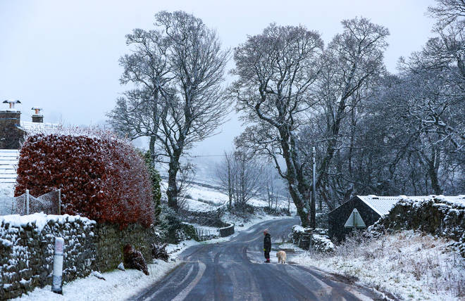 Snow is North Yorkshire this week