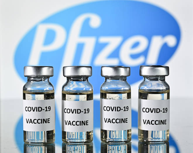 The Pfizer and Biontech vaccine was shipped to 50 locations across the UK this weekend