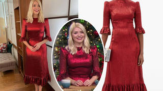 Holly Willoughby looked so festive for Monday's This Morning
