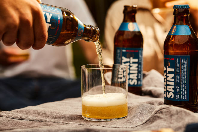 This alcohol-free beer is brewed in the same way as its alcoholic counterparts