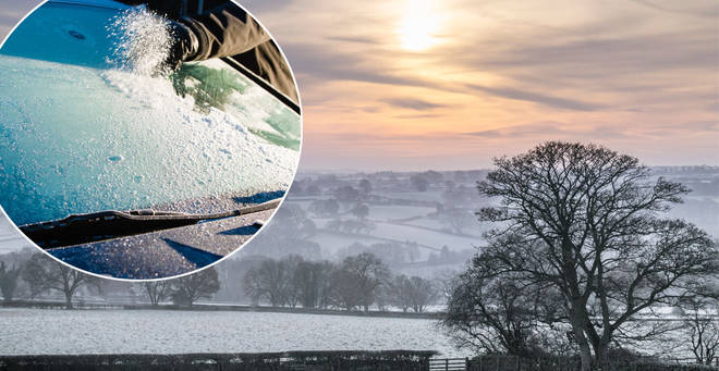 Many Brits will be experiencing very cold temperatures this morning (stock images)