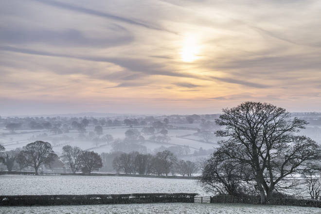 Freezing fog has descended on some parts of the country (stock image)