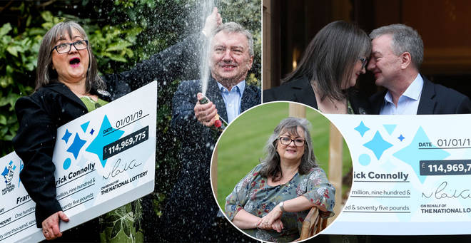 Frances and Patrick won the Euromillions last year