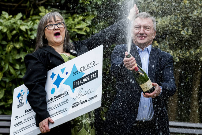 The couple won the lottery two years ago
