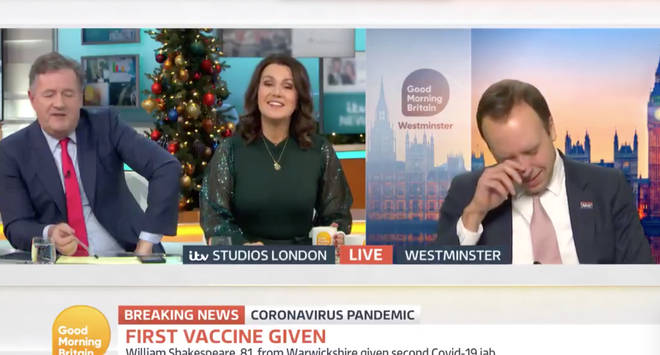 The Health Secretary was overcome with emotions during an interview on Good Morning Britain