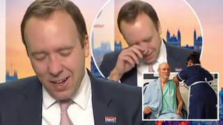 Matt Hancock bursts into tears on Good Morning Britain over first vaccine jabs