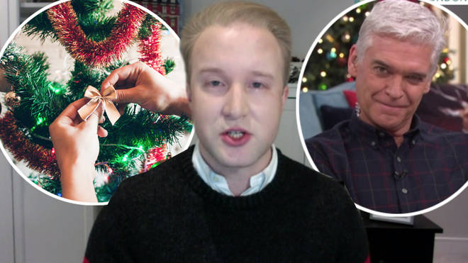 William Hanson dubbed tinsel not acceptable as a Christmas tree decoration