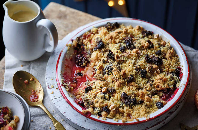 Try this Christmas twist on an apple crumble