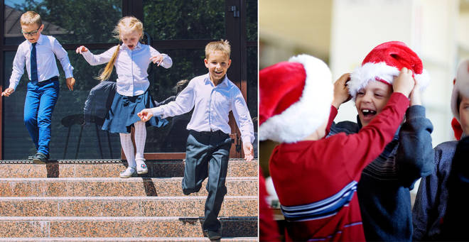 Schools have been told they can finish a day early (stock images)