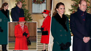 The Queen was reunited with Kate Middleton and Prince William at Windsor Castle