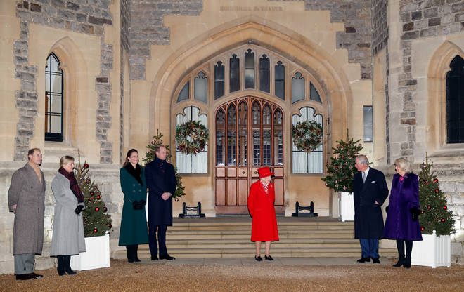 The royal family met to thank volunteers and key workers in the area