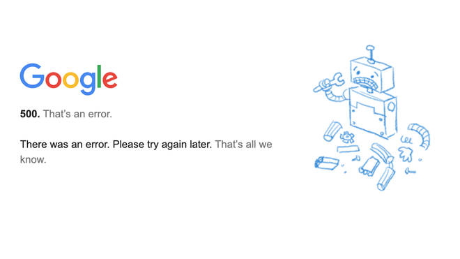 Google is down for many people across the world