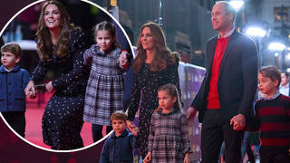 The royal family enjoyed a night out at the theatre in London