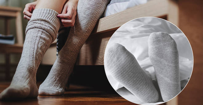 Do you wear socks in bed? (stock images)