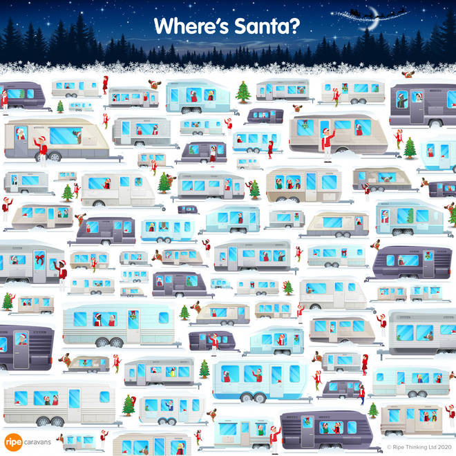 Can you spot Santa in 30 seconds?