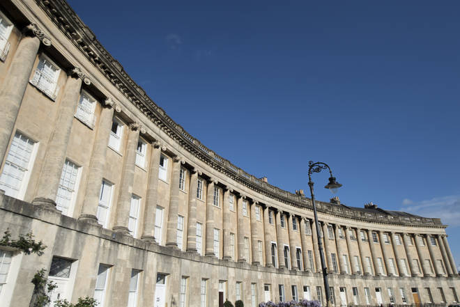 Bath's Royal Crescent is used in the series
