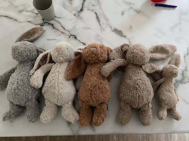 A mum has shared before and after photos of her kids' bunnies