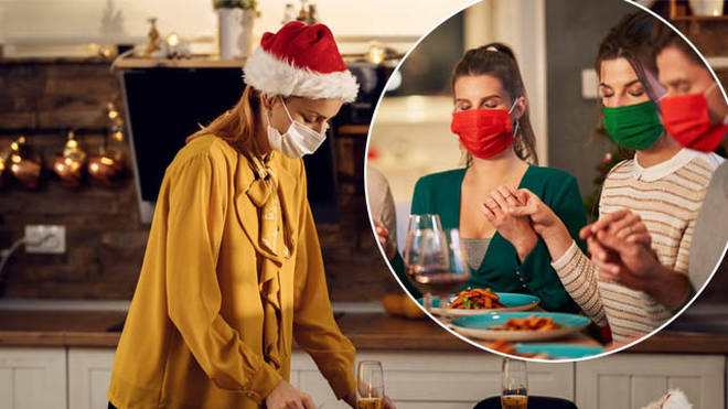 Families are being urged to keep their masks on this Christmas