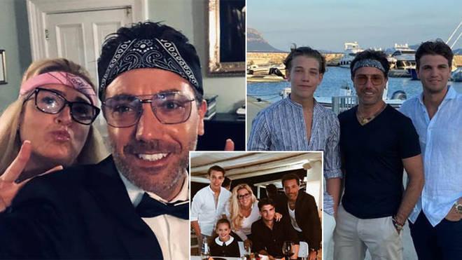 Gino D'ACampo and his family