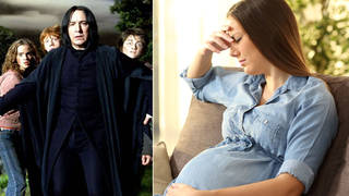 Her Harry Potter-inspired baby name has caused a stir... (right: stock image)