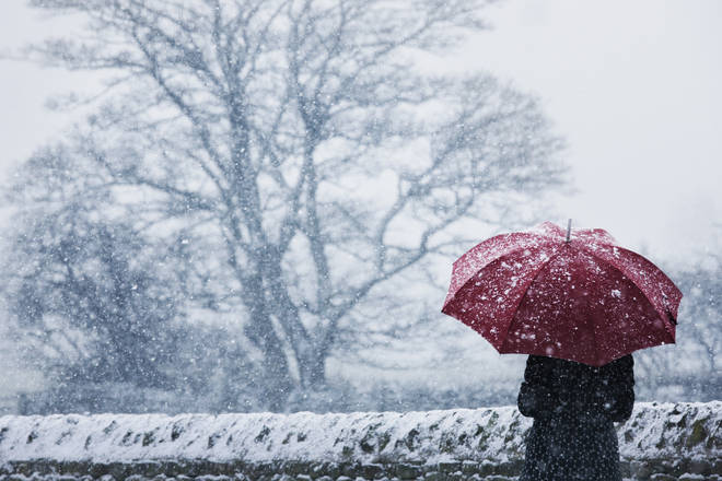 Parts of the UK could see snow as temperatures drop (stock image)
