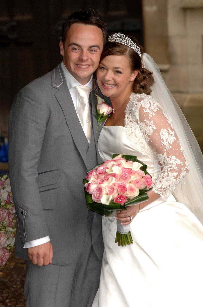 Ant McPartlin and Lisa Armstrong pictured on their wedding day