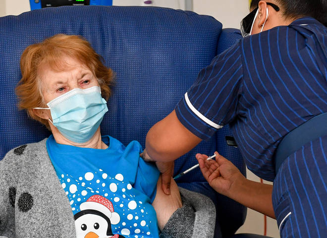 Margaret Keenan was the first person to receive the jab in the UK