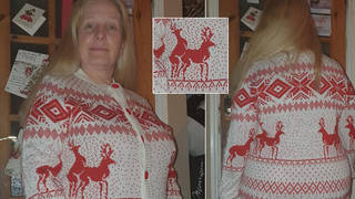 Carolyn bought the jumper at a car boot sale