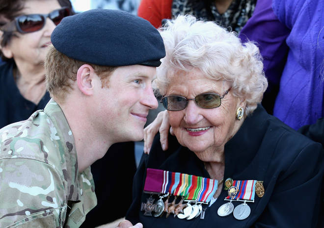 Prince Harry meeting Daphne in 2015