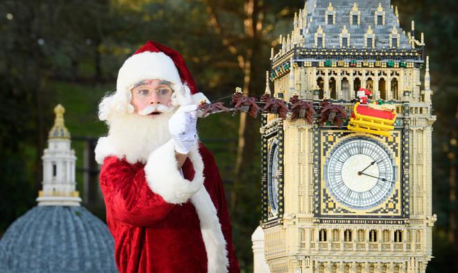 Santa has been at Legoland checking each and every brick